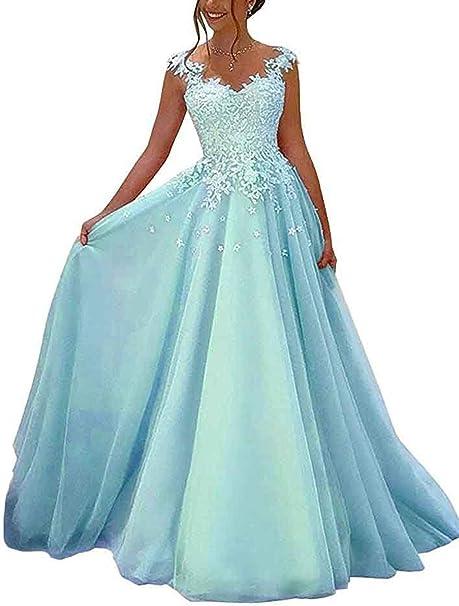 Beyonddress Damen Abendkleider Lang Hochzeit Spitze Prinzessin Armellos Brautkleid Ballkleider Amazon De Bekleidung