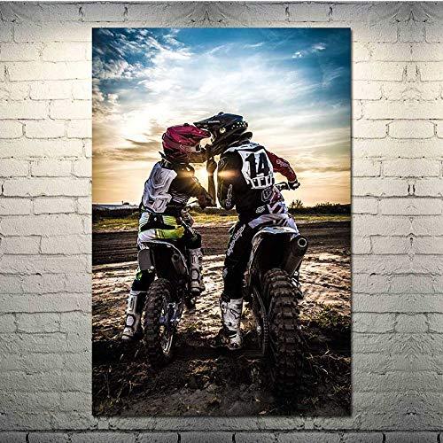 Puzzle 1000 Piezas Motocross Motocross Motocicleta SaltarAmorArteImagen en Juguetes y Juegos Gran Ocio vacacional, Juegos interactivos familiares50x75cm(20x30inch)