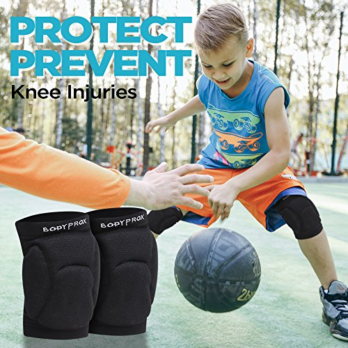Bodyprox Volleyball Knee Pads for Junior Youth, 1 Pair Unisex (8-13 Years)