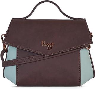 Baggit Autumn-Winter 2020 Faux Leather Women's Satchel Bag (Brown) (Salome)