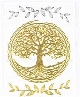 Tatuaje efímero metálico mini árbol de la vida: Amazon.es: Belleza