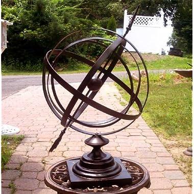 Large 24  Iron Arrow Armillary Sphere