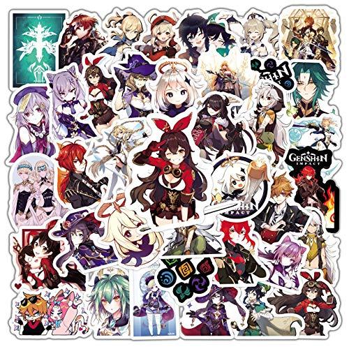 JZLMF 50 Piezas de Juegos de Anime más vendidos, Pegatinas Originales de Graffiti de Dios, Pegatinas para Maleta, Guitarra, Pegatinas para Coche, Pegatinas Impermeables