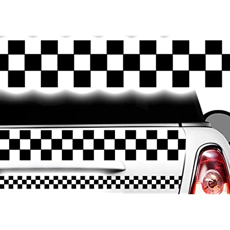 Hr Werbedesign Aufkleber Karomuster Race Turbo Flag Seitenaufkleber Karo Sticker Taxi Dekor Xx Auto