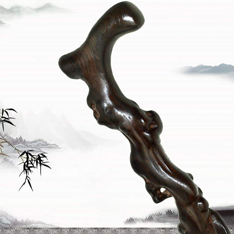 Huikafir Alpenstock Krücken für ltere Menschen - Massivholzstock Führender Gehstock aus Holz 88Cm Trekkingstange
