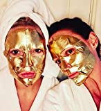 Pack of 10 Gold Face Masks | Anti Aging Wrinkle, Hydrating, Soothing | Peel Off...