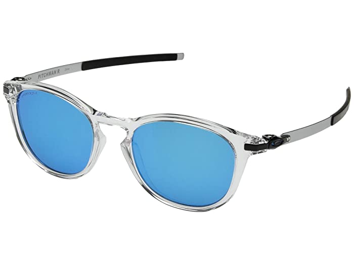 Oakley Pitchman R (Polished Clear/Prizm Sapphire) Sport Sunglasses