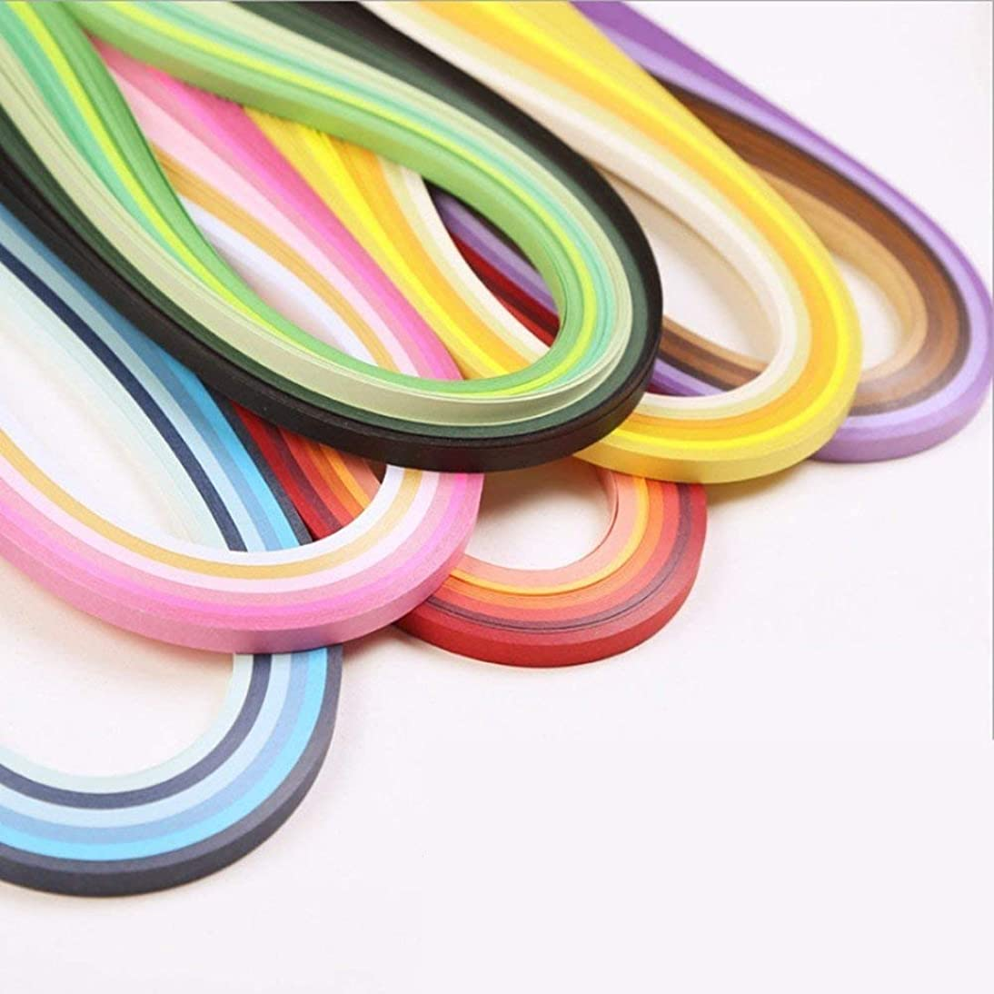 36 Colors 720 Strips Quilling Paper Strips Kit (Width 3mm,Length 54cm)
