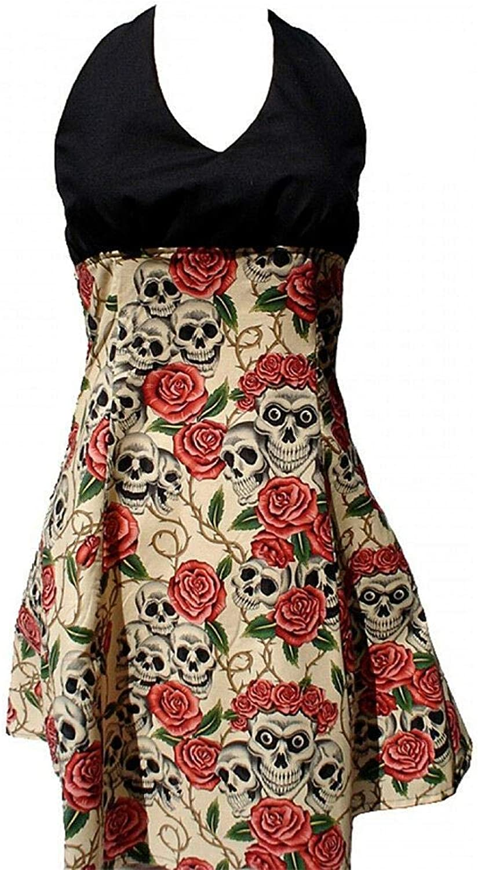 Hemet Women's Swing Me Down Skulls and pinks Rockabilly Dress I