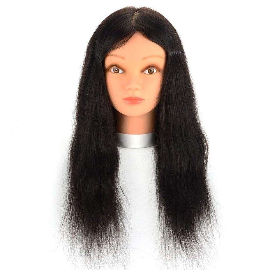 謝るアーネストシャクルトン受取人リアルヘアマネキンヘッド理髪店パーマ髪染色練習かつらヘッドモデルメイクアップヘアカット練習ダミーヘッド,16inches