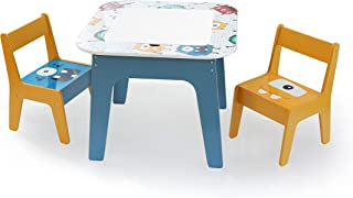 Bellanny 60x50x50CM Table d'activités Multifonctionnelle pour Enfants, Ensemble Table et Chaises Double Face, Table d'étud...