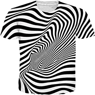 Men Women 3D Novelty Graphic T-Shirts Short Sleeve Crewneck Tie Dye Tee Tops for Casual