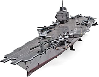CubicFun 3D Puzzles Warships Model Kits, USS Enterprise Aircraft Carrier, 121 Pieces
