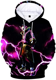 3D Printed Unisex Hooded Novelty Battle Royale Hoodie Pullover Sweatshirts with Pockets for Youth Men Women
