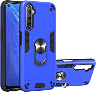 Realme 6 Case, Gift_Source 2 in 1 Dual Layer Shockproof Protective Case Hybrid Hard PC and Soft TPU Silicone Cover Slim Sh...