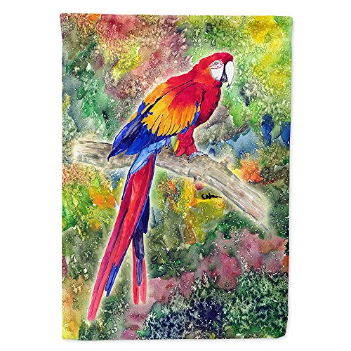Caroline's Treasures 8603CHF Parrot Parrot Head Flag Canvas House Size, Large, Multicolor