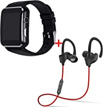 Drumstone [ Buy Smart Watch GET BT Headset Free ] FITNESS SPECIAL X6 Bluetooth Men/Women Stylish Smart Watch With Behind t...