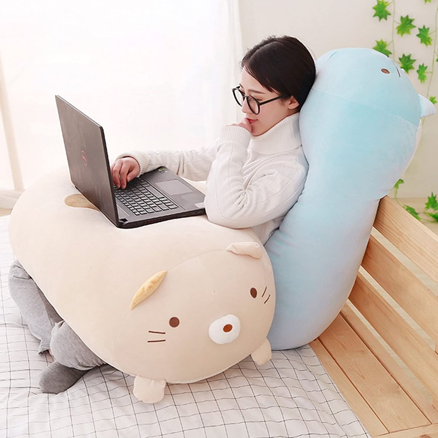 Cute Corner Creatures, Plush Toys, Sleeping Pillows, Office Pillows, Pillow Doll Dolls, Holiday Gifts, 60cm, 90cm. ( Size   Cream 60cm )