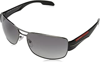 6f72d2e0be1fd Prada Sport PS53NS 5AV3M1 Gunmetal PS53NS Square Pilot Sunglasses Lens  Category