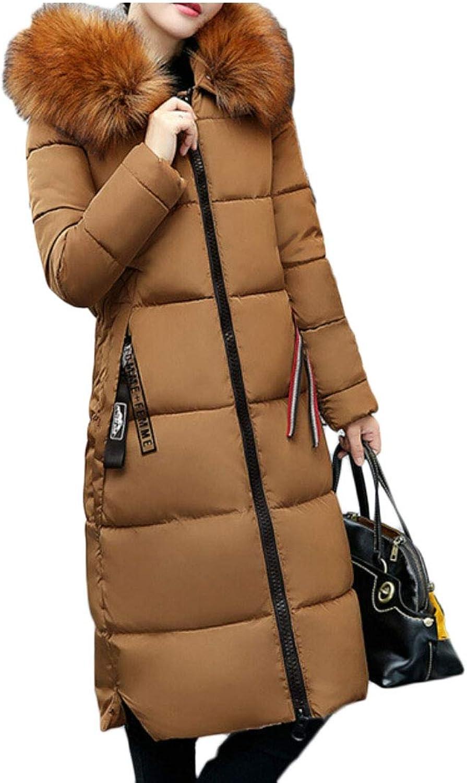 Gocgt Women Warm Coats Faux Fur Hood Parka Overcoat Jacket Outwear