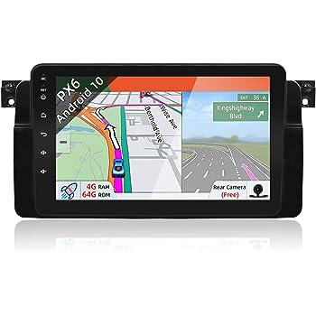 Hizpo Autoradio avec /écran Tactile 9 Android 10 pour BMW S/érie 3 E46 1998-2005 avec Bluetooth 4.0 WiFi Mirrorlink Commande au Volant DVR OBD2 Dab
