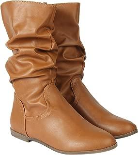 Flat n Heels Womens Tan Boots FnH 07-25-TAN