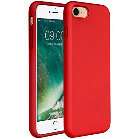 """Miracase iPhone SE 2020 Case,iPhone 8 case,iPhone 7 Silicone Case Gel Rubber Full Body Protection Cover Case Drop Protection for Apple iPhone SE 2020/ iPhone 8/ iPhone 7(4.7"""")(Red)"""