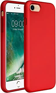 """iPhone SE Case(2020),iPhone 8 case,iPhone 7 Silicone Case Miracase Gel Rubber Full Body Protection Shockproof Cover Case Drop Protection for Apple iPhone 9/ iPhone 8/ iPhone 7(4.7"""")(Red)"""