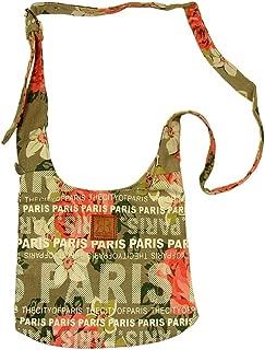 'Flowery Paris' Robin Ruth Shoulder Bag - Beige