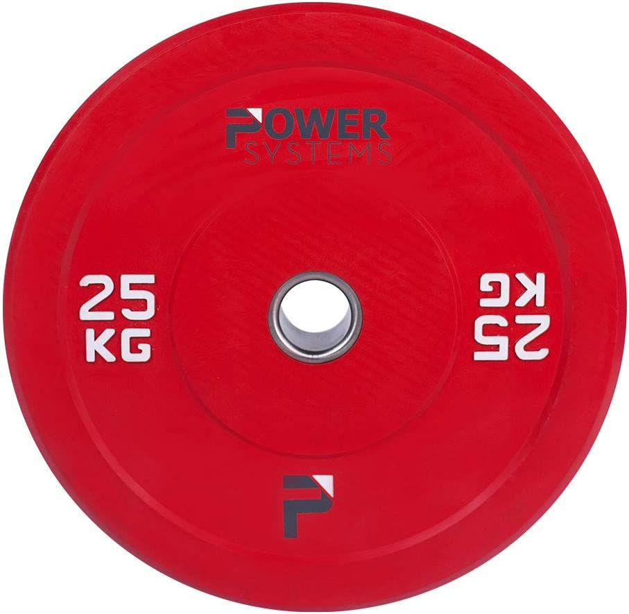 Power Systems Olympic Bumper Plate Grey 55894 5 Kilograms