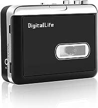 DigitalLife USB Wlakman Cassette Convertidor y Reproductor - Convertidor USB Cassette - Audio Cassette a MP3 Digital - Grabadora Cintas Cassette (No Need PC)