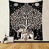 Patrón de mandala indio tapiz estilo boho sala de estar decoración del hogar dormitorio fondo de pared manta de tela colgante A13 180x200cm