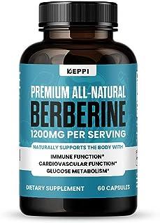 Keppi Berberine Immune Support - Berberine HCL 1200mg - 60 Capsules - Supports Immune Function, Glucose Metabolism, and Di...