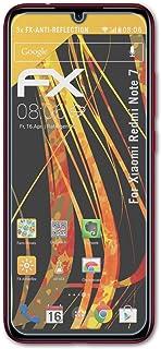 atFoliX Skärmskydd är kompatibel med Xiaomi Redmi Note 7 Skyddsfilm, antireflekterande och stötdämpande FX Film (3X)