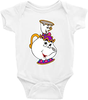 Mrs. Potts and Chip Beauty and The Beast Short Sleeve Unisex Onesie