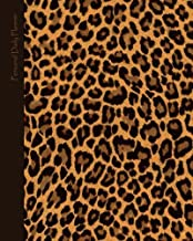 """Daily Planner - Personal: Day Planner ( Weekly at a glance layout with goals * Start any time of year * 52 spacious weeks * Large softback 8"""" x 10"""" ... Leopard Print ] (Daily Planners & Organizers)"""