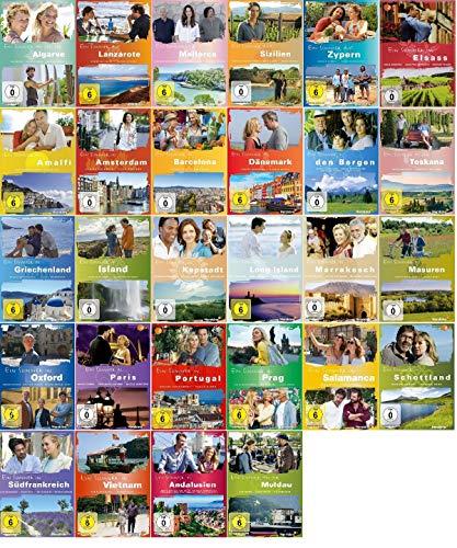 Ein Sommer in Paris,Toskana,Barcelona,Kapstadt,Portugal,auf Mallorca,auf Sizilien ... (Herzkino) [28 DVD Set]