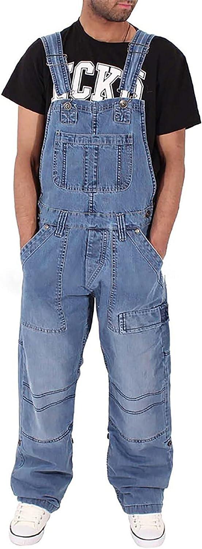 Men's denim overalls loose supreme Manufacturer OFFicial shop jumpsuits simple multi-pocket fashion
