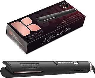 Kim Kimble Airwave 2 in 1 Styler Straightener and Curler, Black, Dual Voltage