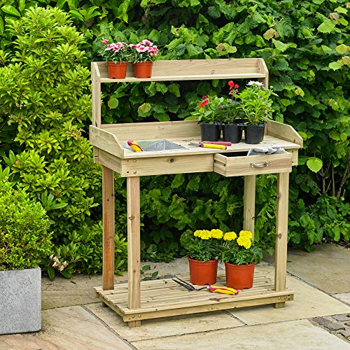 Kingfisher Table de Jardinage PTABLE en...