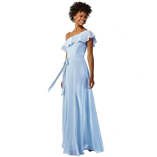 0390b3d77bd Ever-Pretty Womens Elegant Sleeveless Floor Length Ruffles Chiffon  Bridesmaids Dress 07201