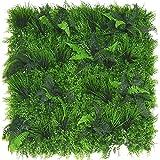 Jardín Vertical Artificial Muy Realista, 100 x 100 cm, Muro Verde Artificial, Panel de Pared Verde, Flor Artificial, Placa de Pared para Interior y Exterior, decoración de Oficina, casa, jardín