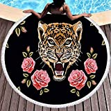 Pamime 60X60 Inch Round Microfiber Beach Towels,Embroidery...