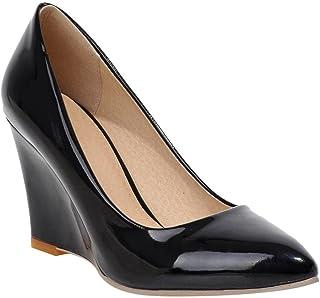 da867eb6e21a YE Escarpins Femmes Chaussures Sexy et Simple Bout Pointu à Talon Haut  compensé sans Plateforme