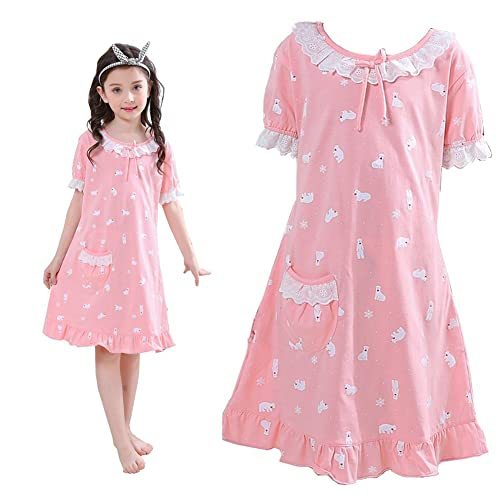 2ee03dc761 ADAHOP Mother and Daughter Cotton Nightgown Pajamas Family Clothes Outfits