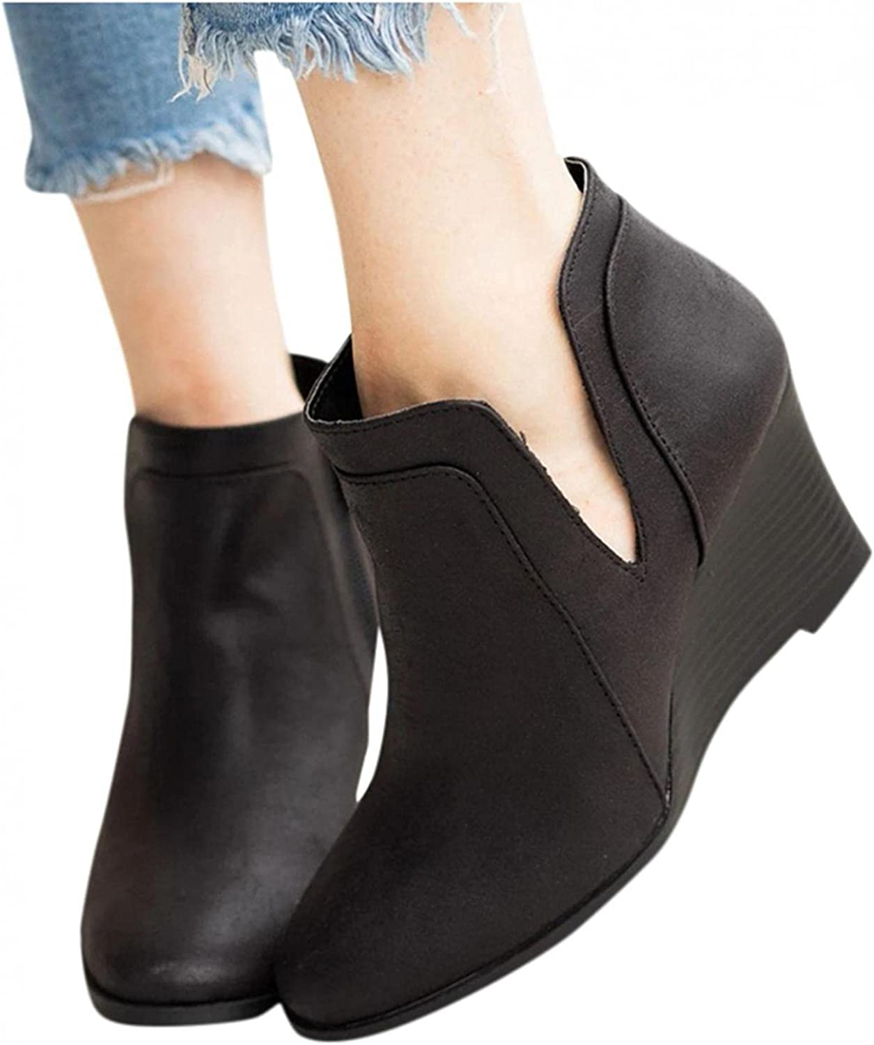 Gibobby Ankle Boots for Women SEAL limited product Low Fashion Ho Dressy Heel Women's free