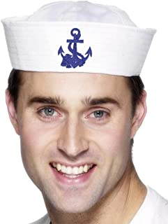 Smiffy's Men's Us Sailor Doughboy Hat with Anchor