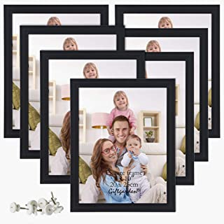 Giftgarden 8x10 Picture Frame Multi Photo Frames Set Wall or Tabletop Display, Black, 7