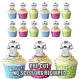 prédécoupés Fidji Rugby Chemises comestible pour cupcakes/gâteau Décorations (lot de 12)