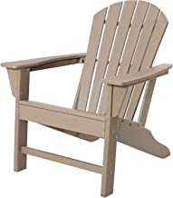 Reclining Adirondack Chair, HDPE Chair All Weather Resistant for Patio Garden Backyard Beach, Wood